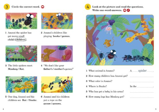 Anansi Helps a Friend Activity Book Level 1 - 1