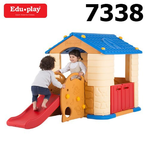 Edu Play House with Slide – Blue