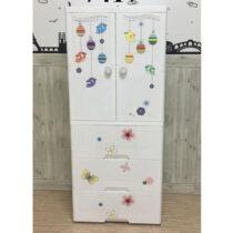 Duytan White Plastic Cabinet 7417