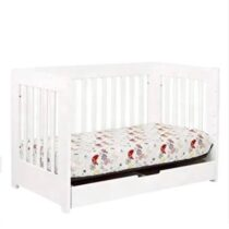 Infantes Wooden Cot with Drawer White