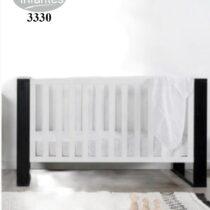 Infantes Wooden Cot Black 3330
