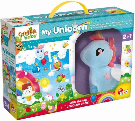 Lisciani Carotina Baby Unicorn Plush Mega Puzzle