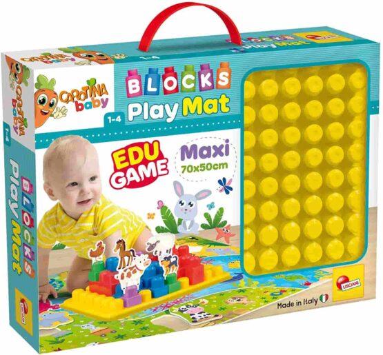 Lisciani Carotina Baby Blocks Play Mat, Maxi 70 X 50cm