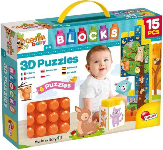 Lisciani Carotina Baby Blocks Puzzle 3d The Farm