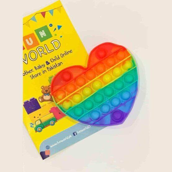 Poppet Push Pop Bubble Fidget - Heart