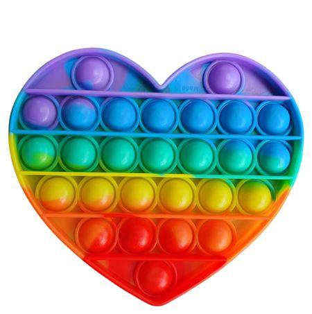 Pop It PushPop Bubble Fidget – Heart