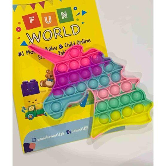 Pop It Push Pop Bubble Fidget – Unicorn