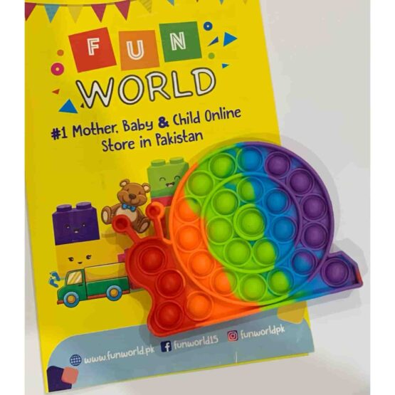 Pop It Push Pop Bubble Fidget – Snail